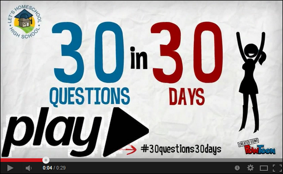 30 Questions in 30 Days on YouTube